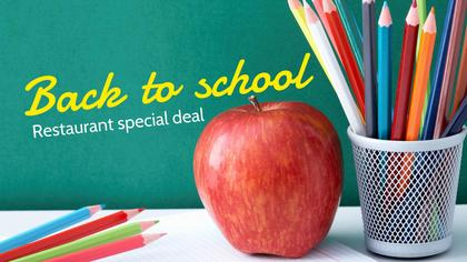 Back to School Restaurant Offer