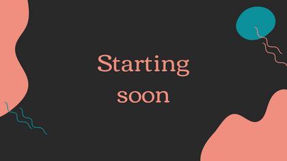Starting Soon — Dark Peach Theme