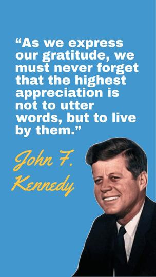 J.F. Kennedy Quote