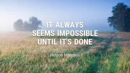 Impossible Is Nothing - Inspirational Quote