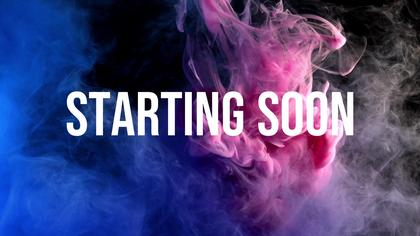 Starting Soon — Neon Smoke Theme