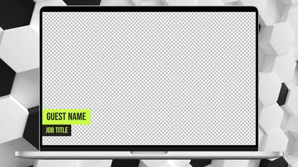 Laptop Overlay — Honeycomb Theme