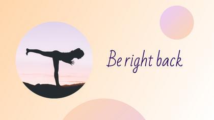 Be Right Back — Yogurt Theme