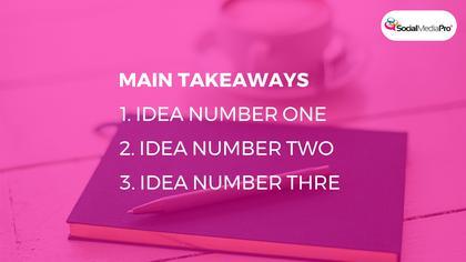 Main Takeaways Screen — SMD Summit Theme