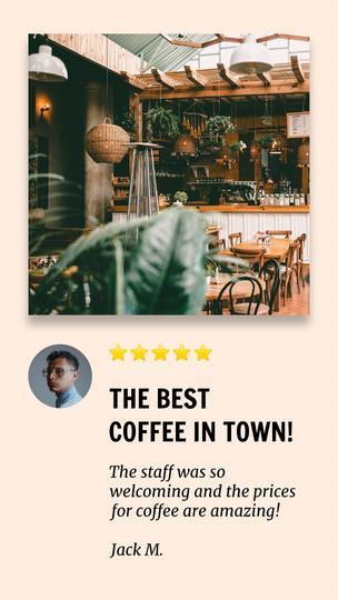 Coffee Shop Testimonial