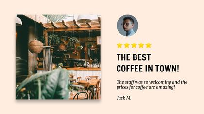 Coffee Shop Testimonial