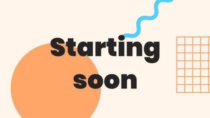 Starting Soon — Geometric Theme