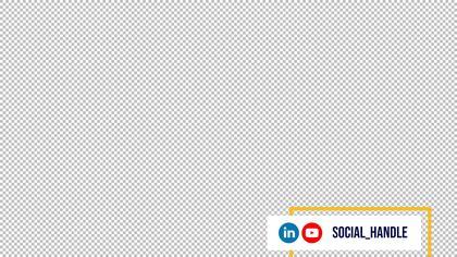 Lower Third Social Handle — LinkedIn Remastered Theme