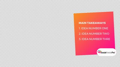 Main Takeaways Overlay — SMD Summit Theme