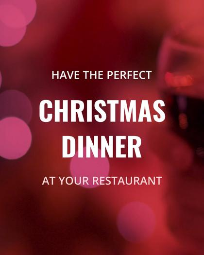 Christmas Dinner at a Restaurant