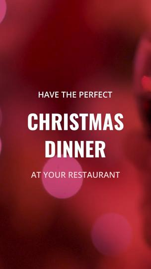 Christmas Dinner at a Restaurant