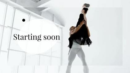 Starting Soon — Subtle B/W Theme