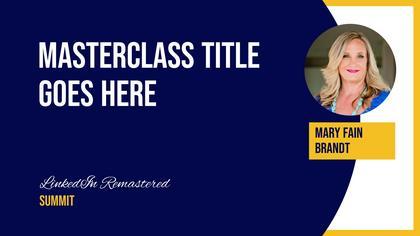 Speaker Introduction  — LinkedIn Remastered Theme