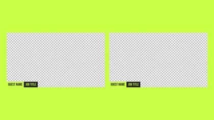 2 Frames Overlay — Honeycomb Theme