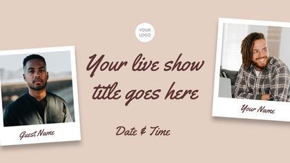 Live Stream Promo — Coffee Theme