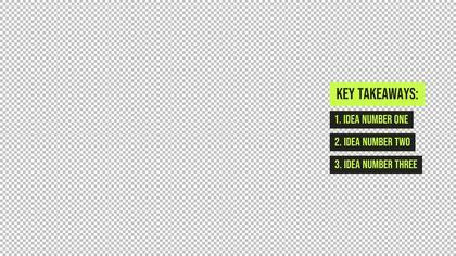 Key Takeaways — Honeycomb Theme