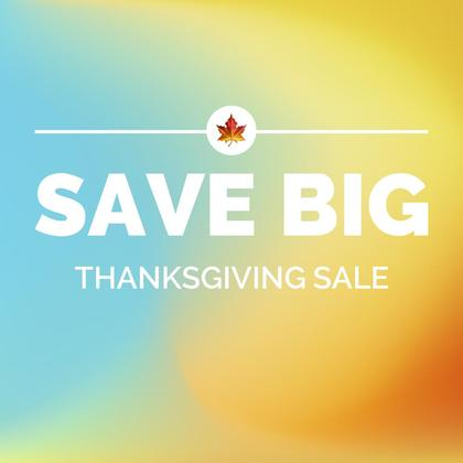 Thanksgiving Sale Promo