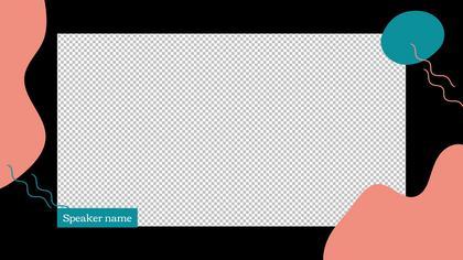 1 Frame Overlay — Dark Peach Theme