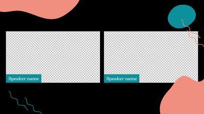 2 Frames Overlay — Dark Peach Theme