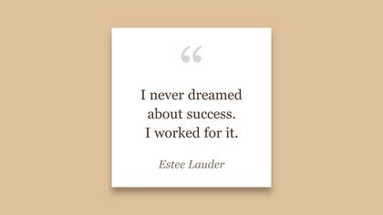 Work for Success - Inspirational Quote