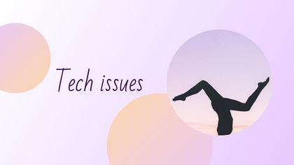 Tech Issues — Yogurt Theme