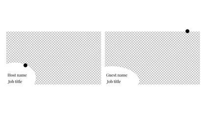 2 Frames Overlay — Subtle B/W Theme