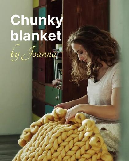 Chunky Blanket Product Demo