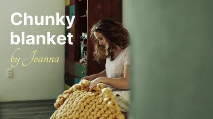 Chunky Blanket Product Demo