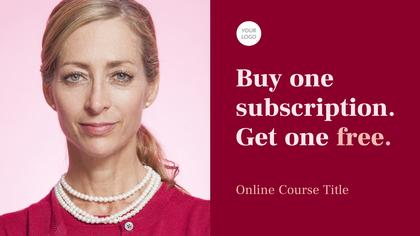 Online Course Ad