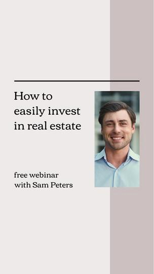 Real Estate Webinar Invitation