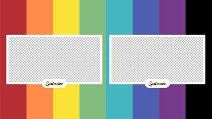 2 Frames Overlay — Color Bars Theme