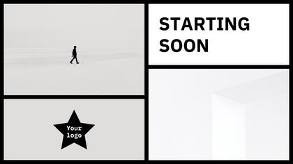 Starting Soon — Black Star Theme