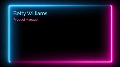 Neon Virtual Background