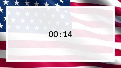 Countdown — US Flag Theme