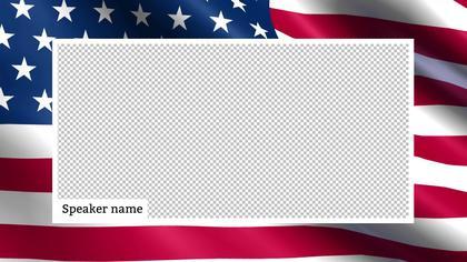 1 Frame Overlay — US Flag Theme