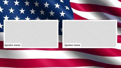 2 Frames Overlay — US Flag Theme