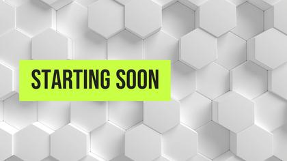 Starting Soon — Honeycomb Theme