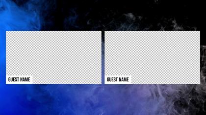 2 Frames Overlay — Neon Smoke Theme