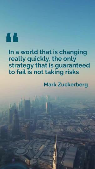 Taking Risks - Inspirational Quote