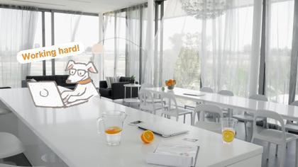 White Interior Video Background